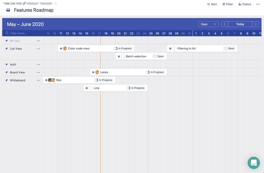 Fibery Timeline View. Product roadmap.
